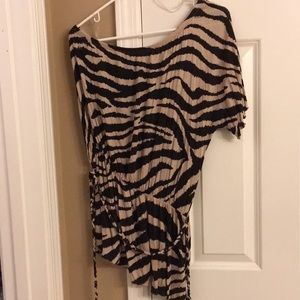 Lane Bryant One sleeve off the shoulder top